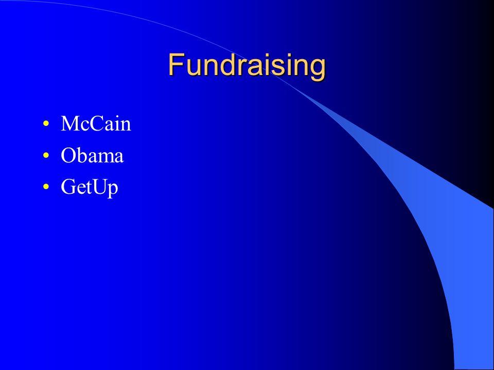 Fundraising McCain Obama GetUp