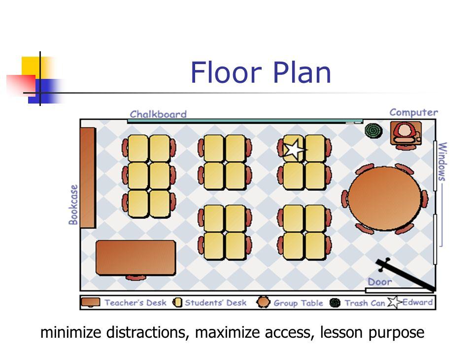 minimize distractions, maximize access, lesson purpose