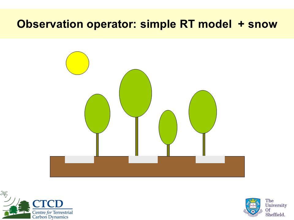 Observation operator: simple RT model + snow