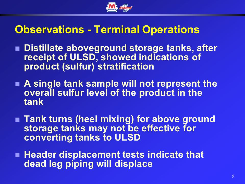 8 Terminal Operations Observations & Recommendations