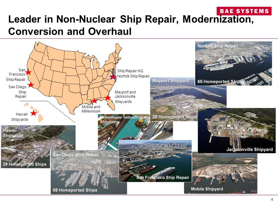 Leader in Non-Nuclear Ship Repair, Modernization, Conversion and Overhaul San Francisco Ship Repair San Diego Ship Repair Hawaii Shipyards Ship Repair
