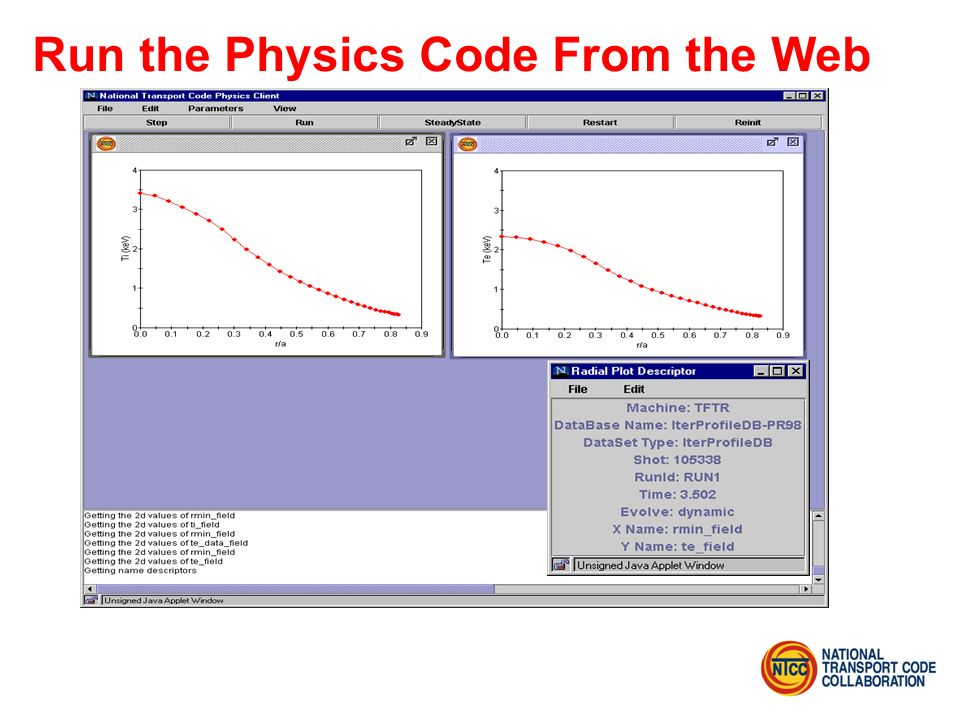 Run the Physics Code From the Web