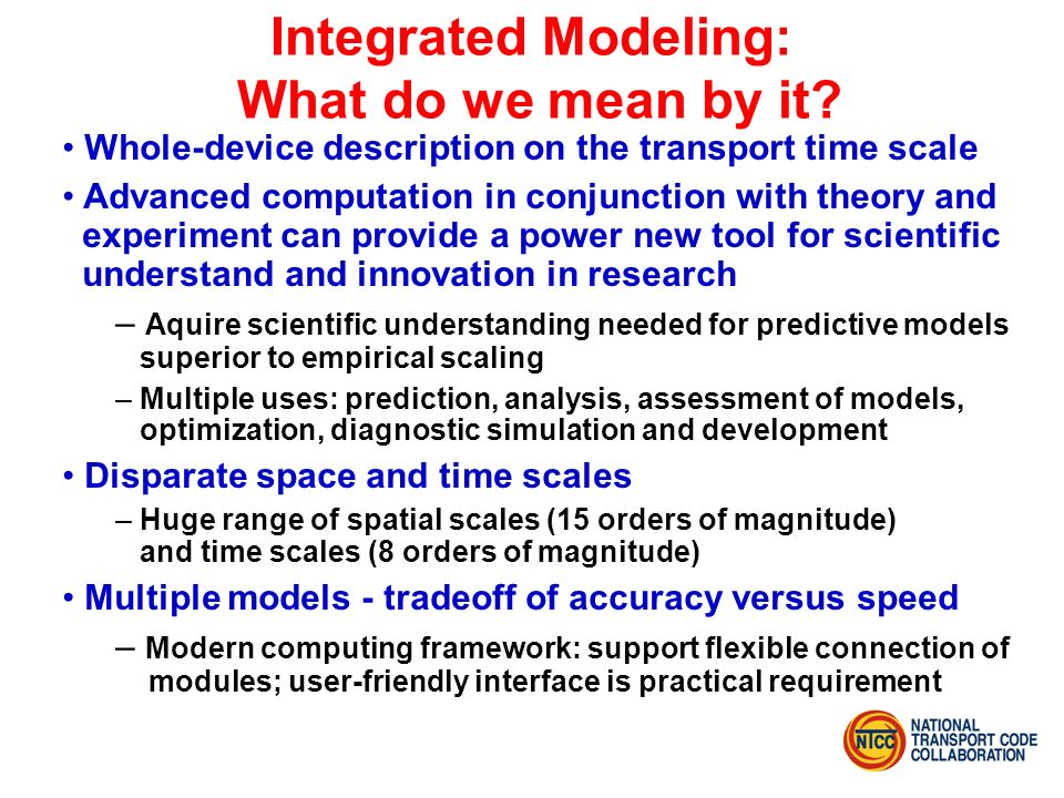 Integrated Modeling: What do we mean by it.