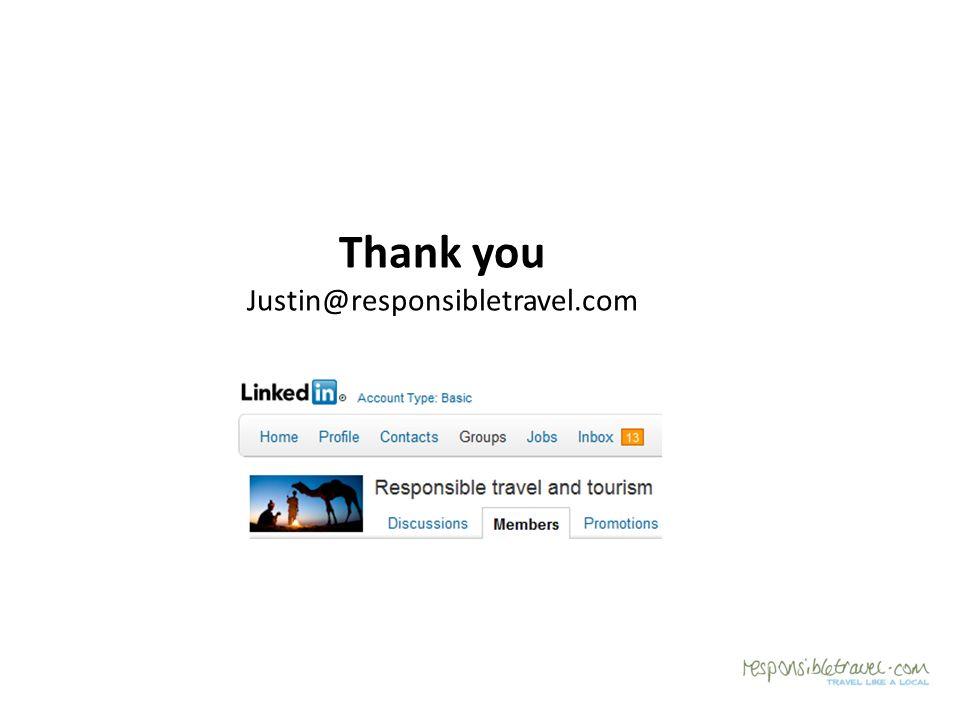 Thank you Justin@responsibletravel.com