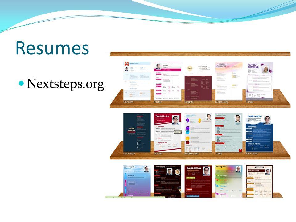 Resumes Nextsteps.org