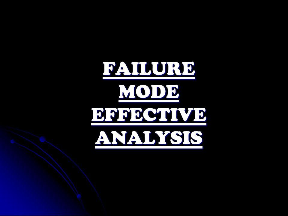 FAILURE MODE EFFECTIVE ANALYSIS