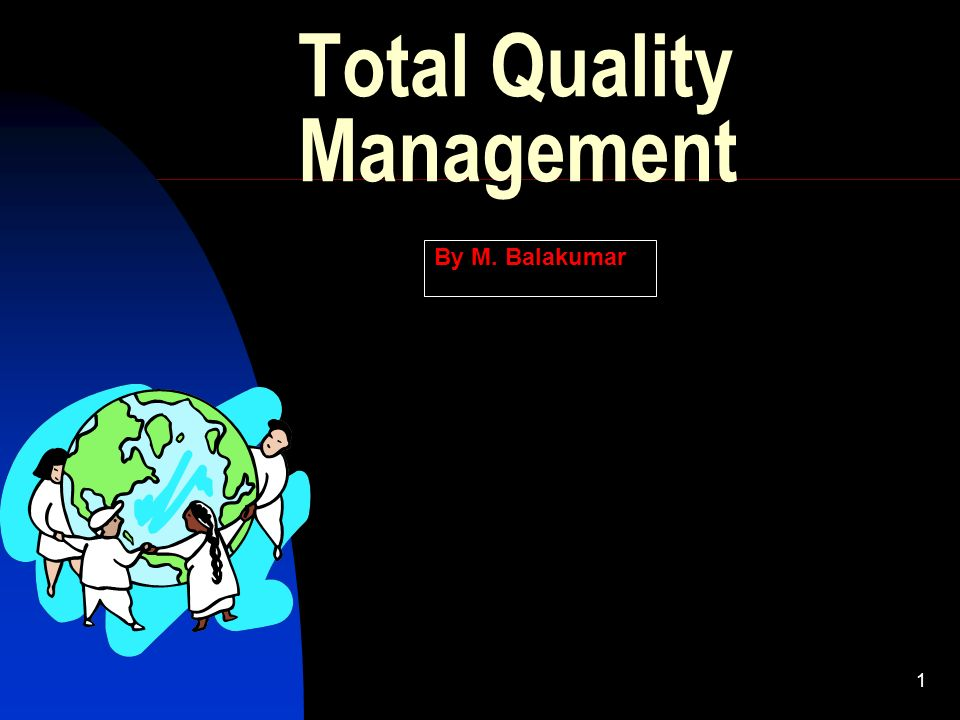 1 Total Quality Management By M. Balakumar