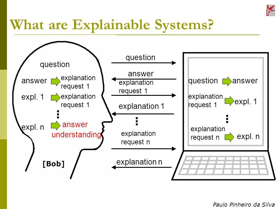 Paulo Pinheiro da Silva What are Explainable Systems.