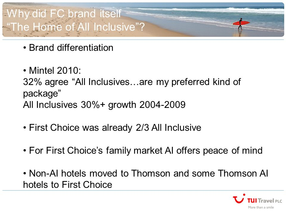 Why did FC brand itself The Home of AlI Inclusive.