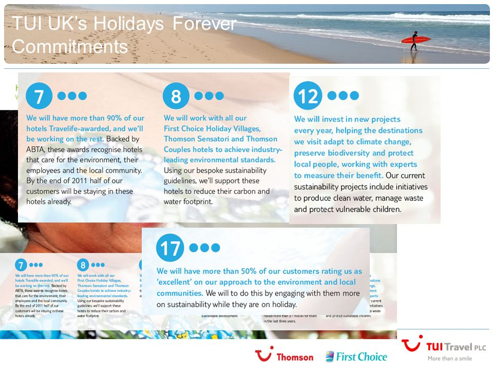 TUI UKs Holidays Forever Commitments