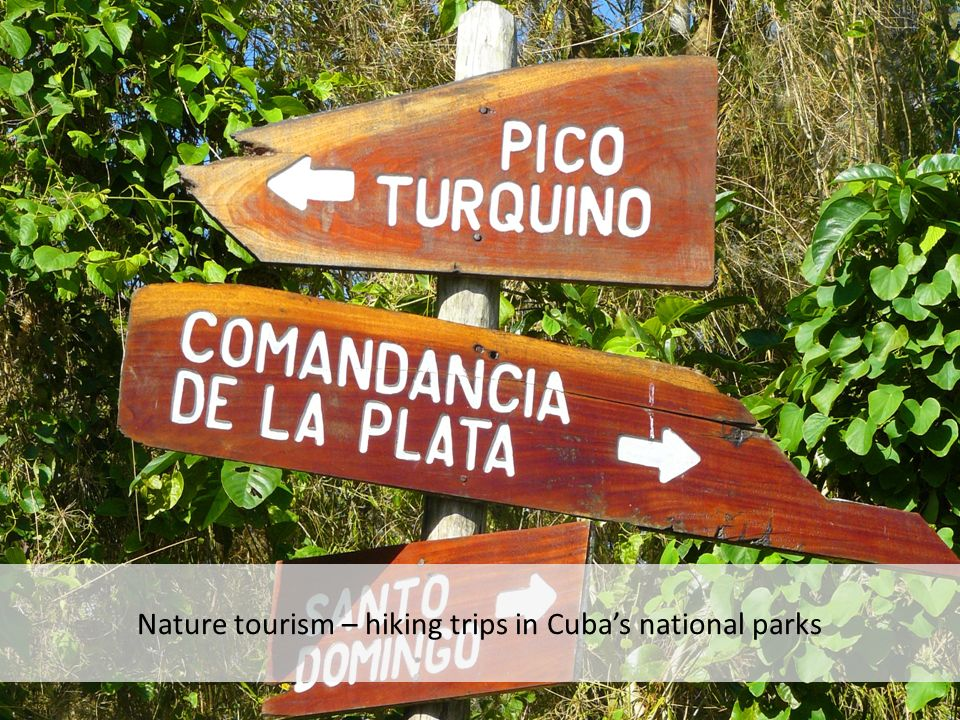 Nature tourism – hiking trips in Cubas national parks
