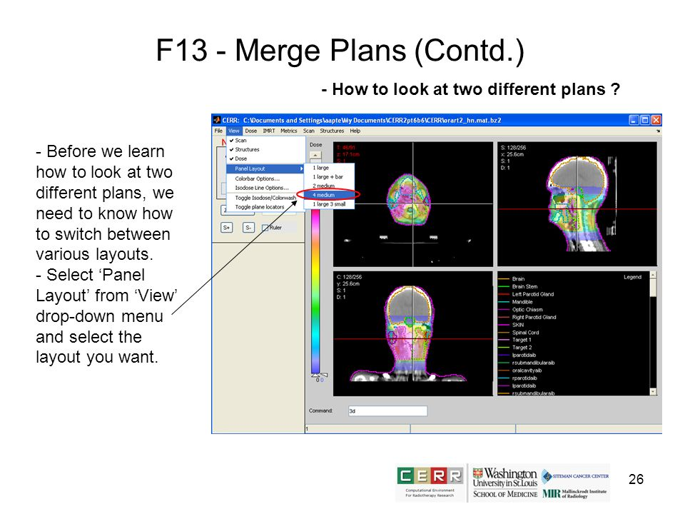 26 F13 - Merge Plans (Contd.) - Before we learn how to look at two different plans, we need to know how to switch between various layouts. - Select Pa