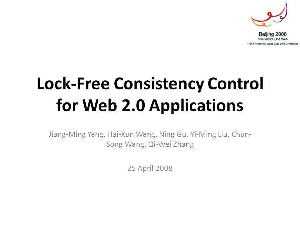 Consistency Control – Storage Model