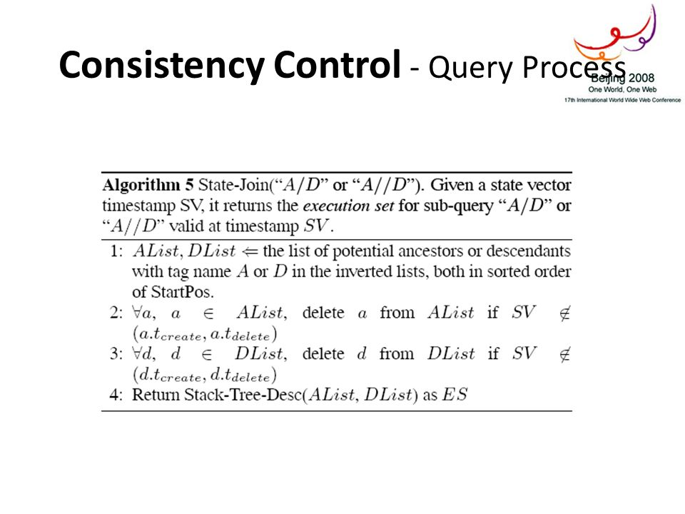 Consistency Control - Query Process