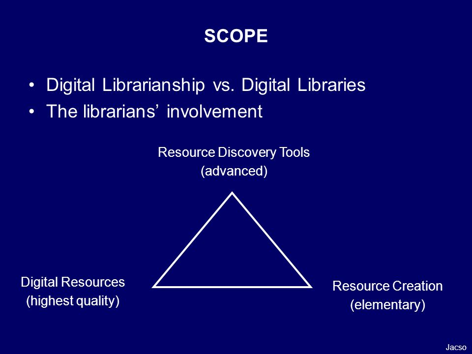 Digital Librarianship vs.