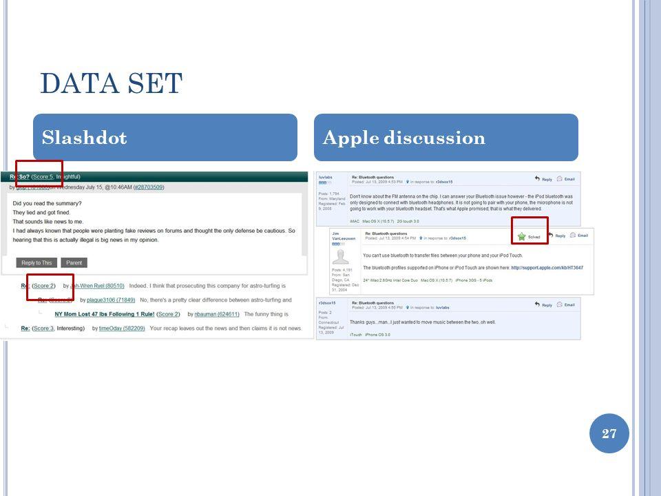 DATA SET SlashdotApple discussion 27