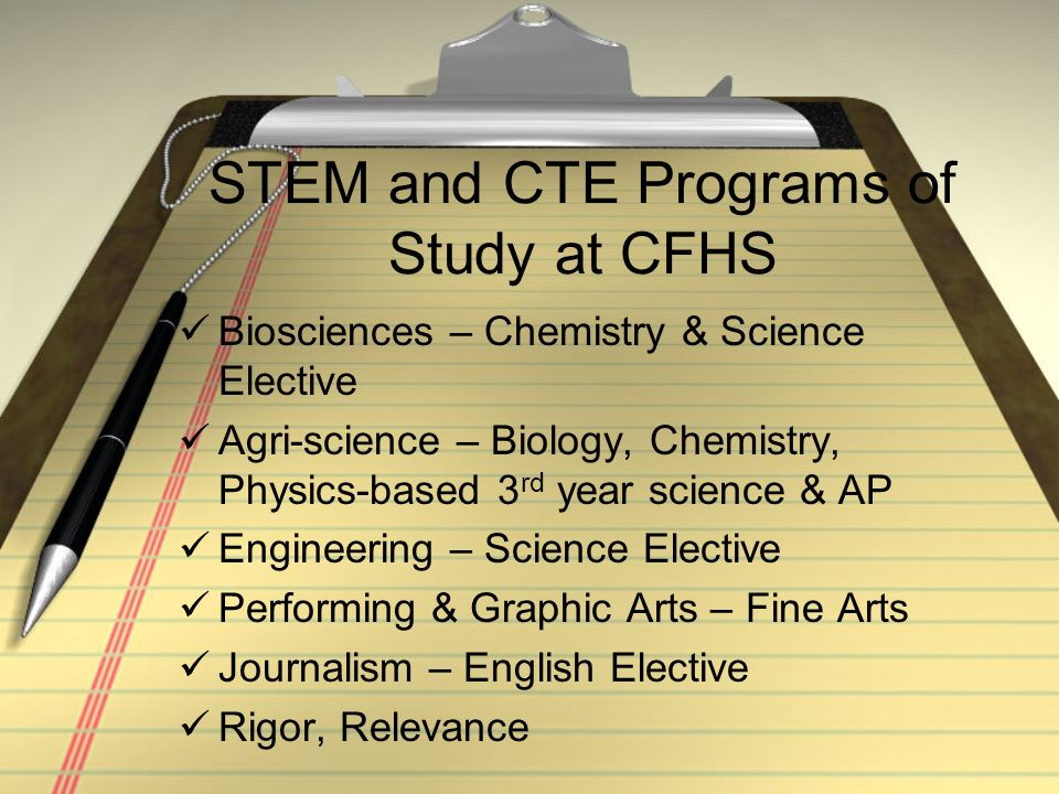 CFHS CTE includes engaging and differentiated instruction! Hands On/Authentic Experiences Build From Solid Foundation Accountability – evidence/suppor