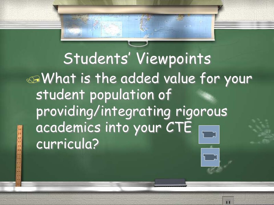 Questions To Consider / Does integrating common core into your CTE courses make sense.