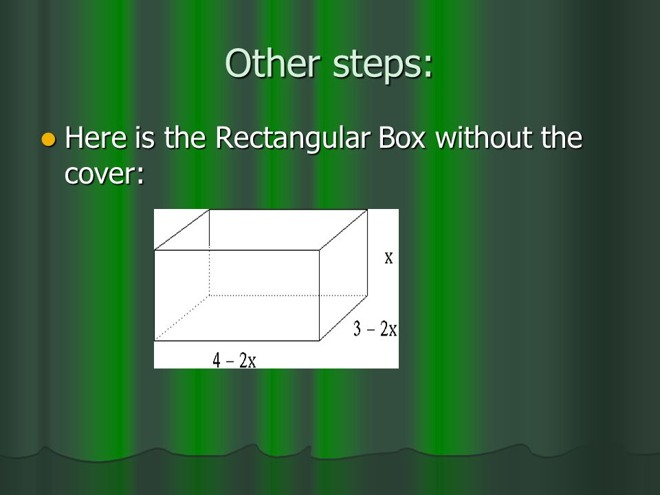 Other steps: Here is the Rectangular Box without the cover: