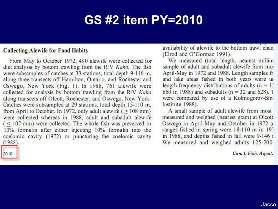 GS #2 item PY=2010 Jacso