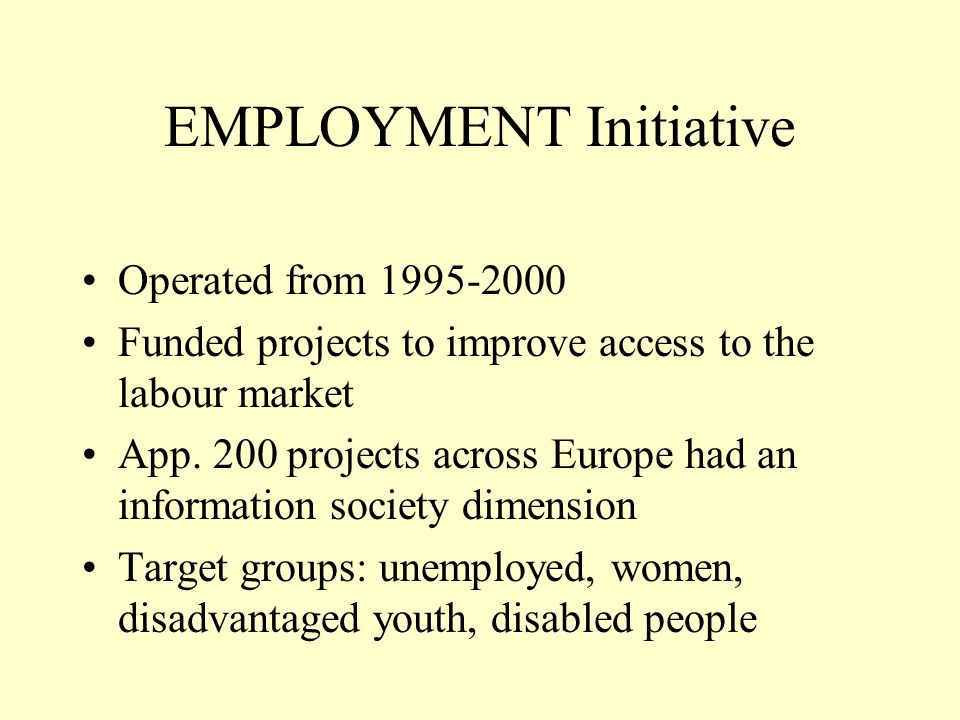 Types of IS interventions ICT training (most popular intervention) Service provision (local information services, local employment services…) Enterprise development (including self- employment in IS sectors) Online support services