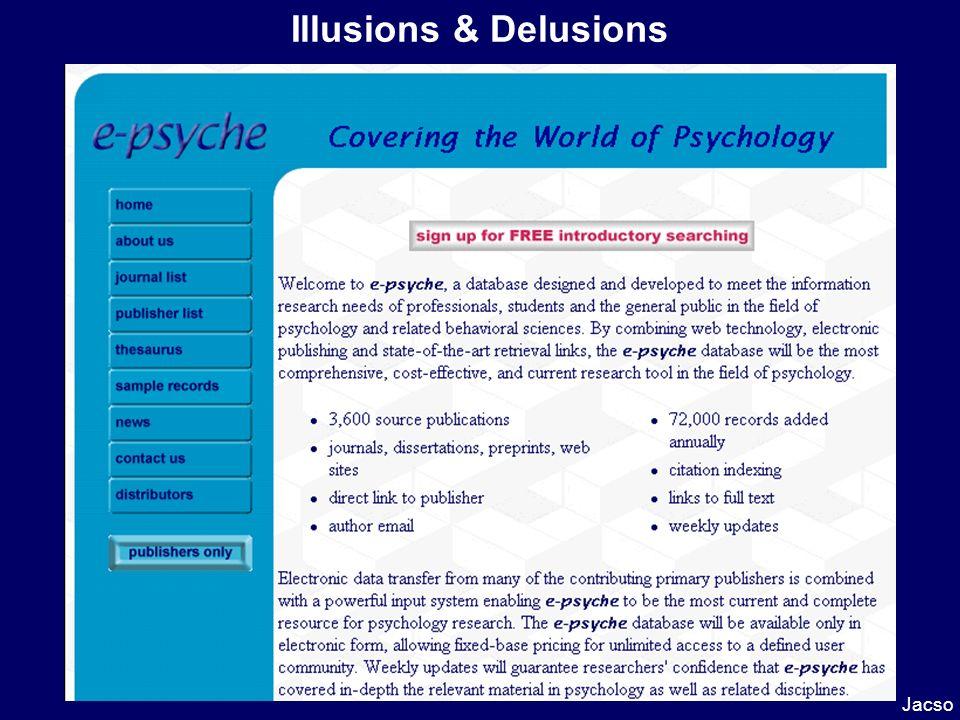 Illusions & Delusions Jacso