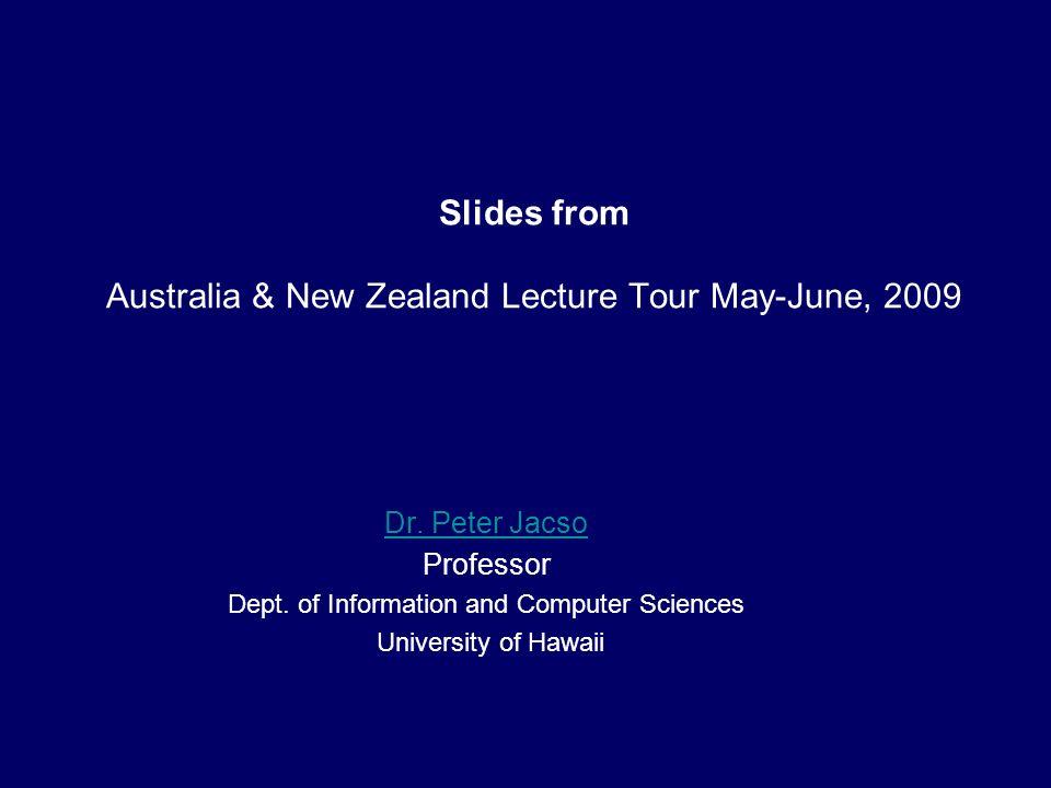 AR Materials Research Scopus 2002-2007 Jacso