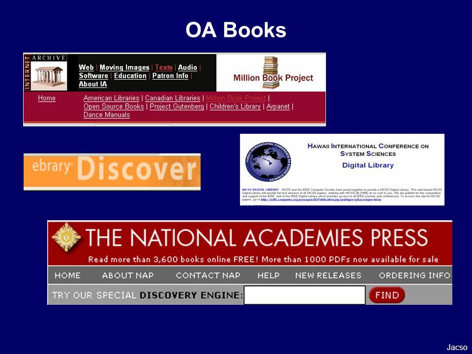 OA Books Jacso