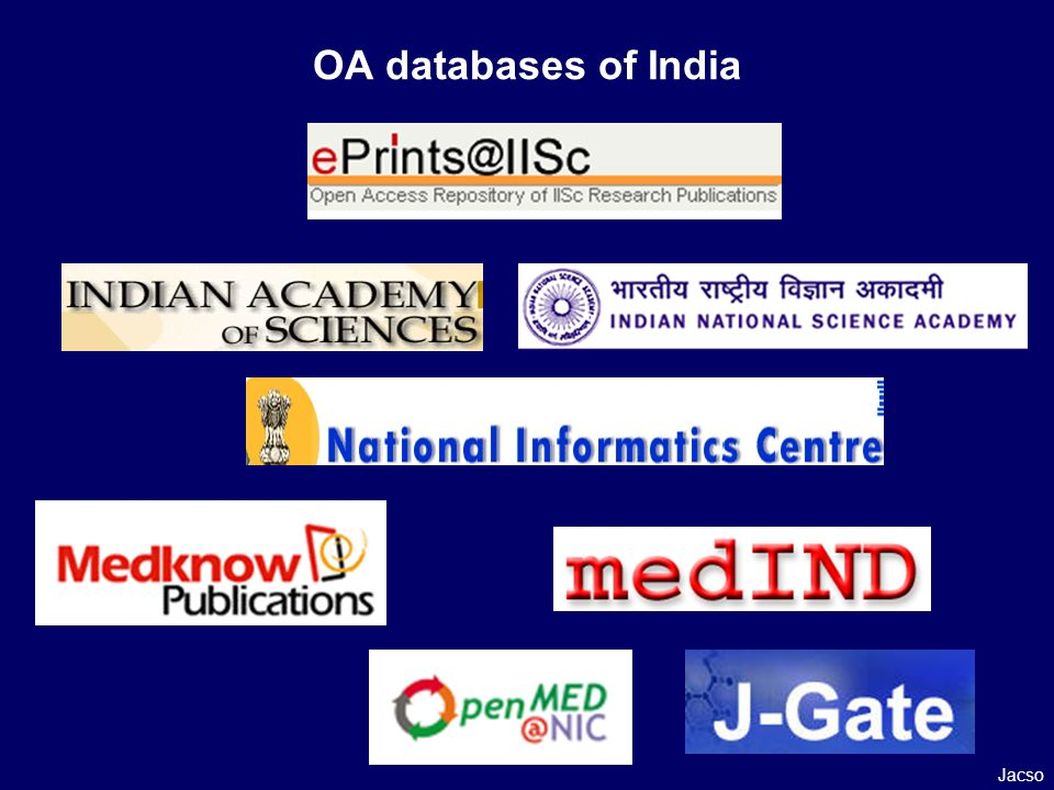 OA databases of India Jacso