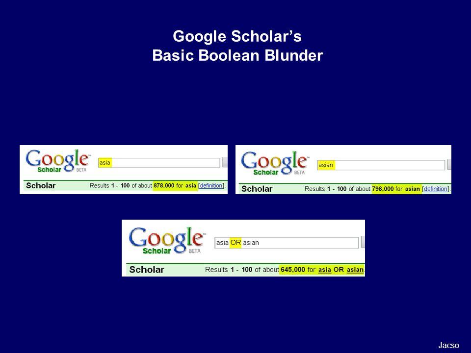 Google Scholars Basic Boolean Blunder