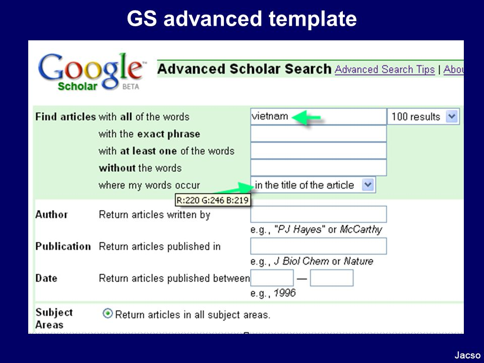 GS advanced template Jacso