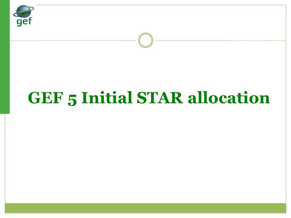 GEF 5 Initial STAR allocation