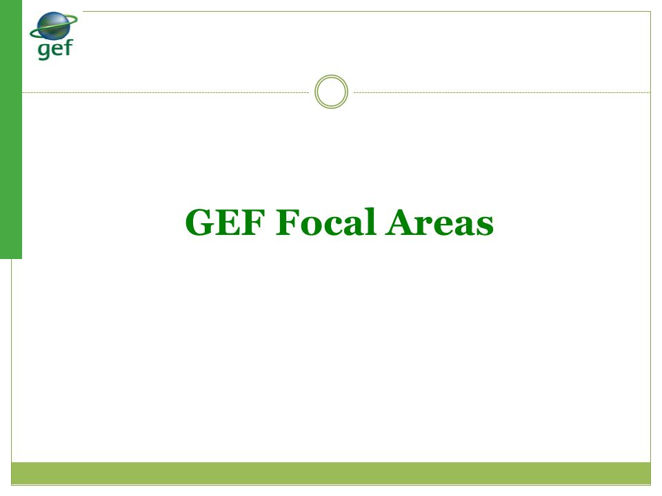 GEF Focal Areas