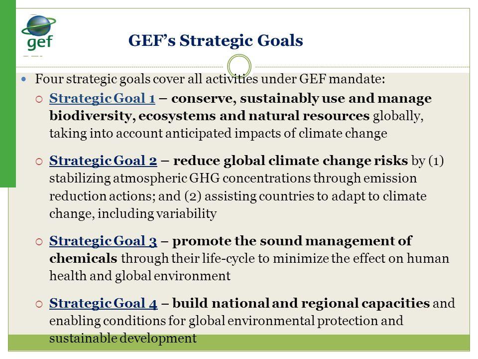 Procedures GEF Sec agrees directly: Focal Area of GEF.