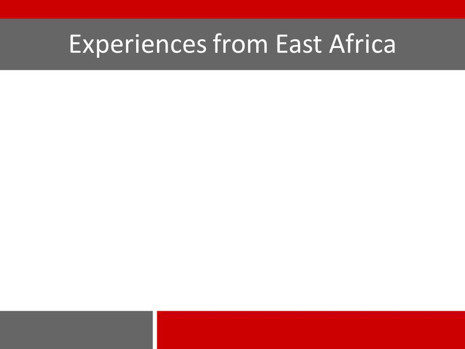 Experiences from East Africa