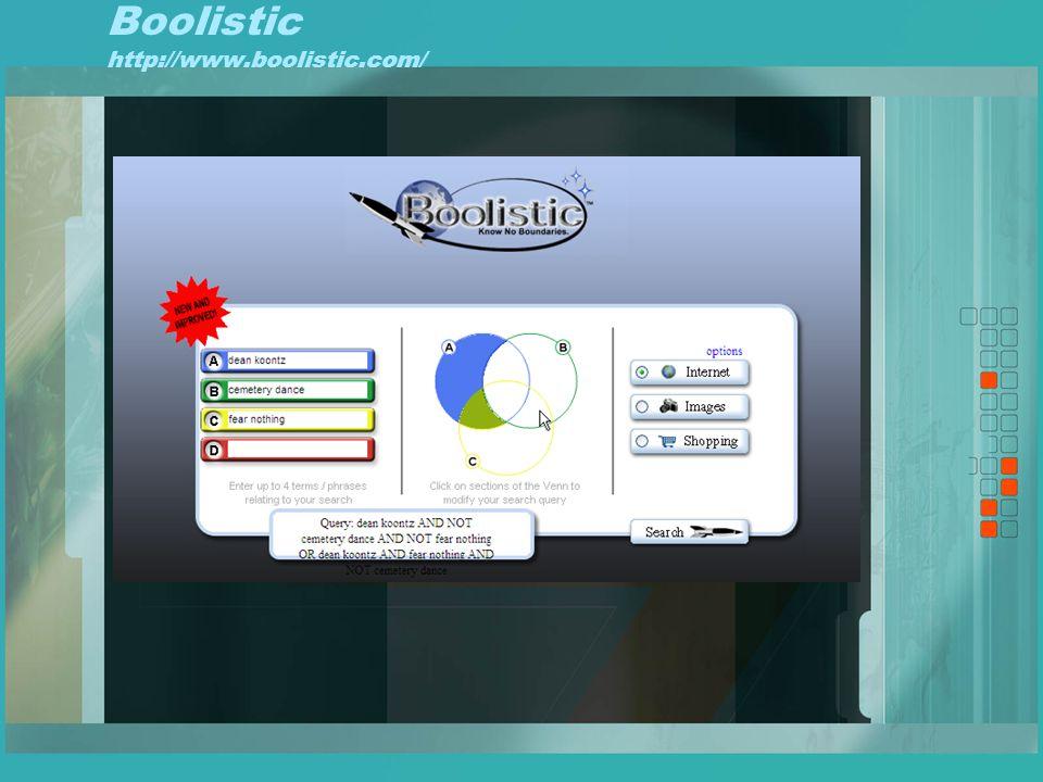 Boolistic http://www.boolistic.com/