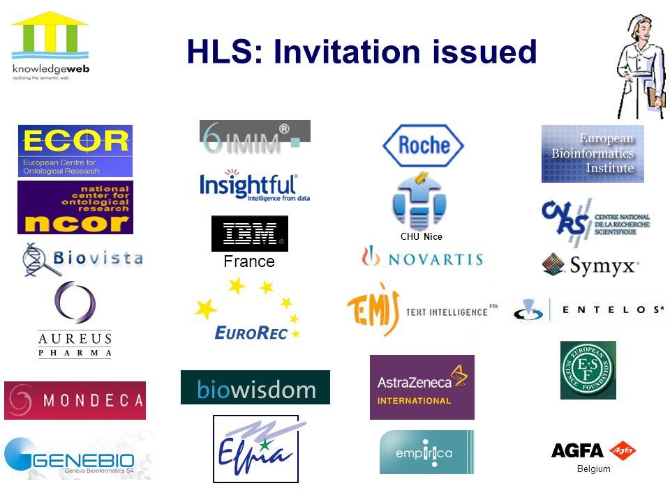 22 HLS: Invitation issued France CHU Nice Belgium