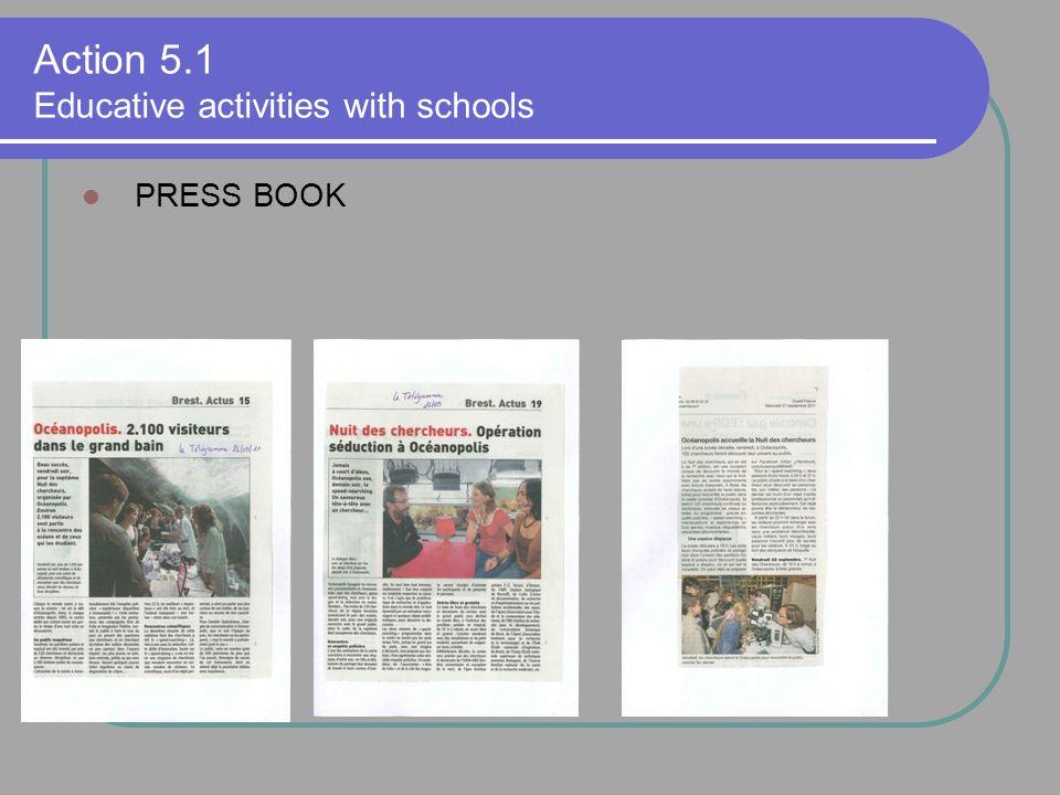 PRESS BOOK Action 5.1 Educative activities with schools