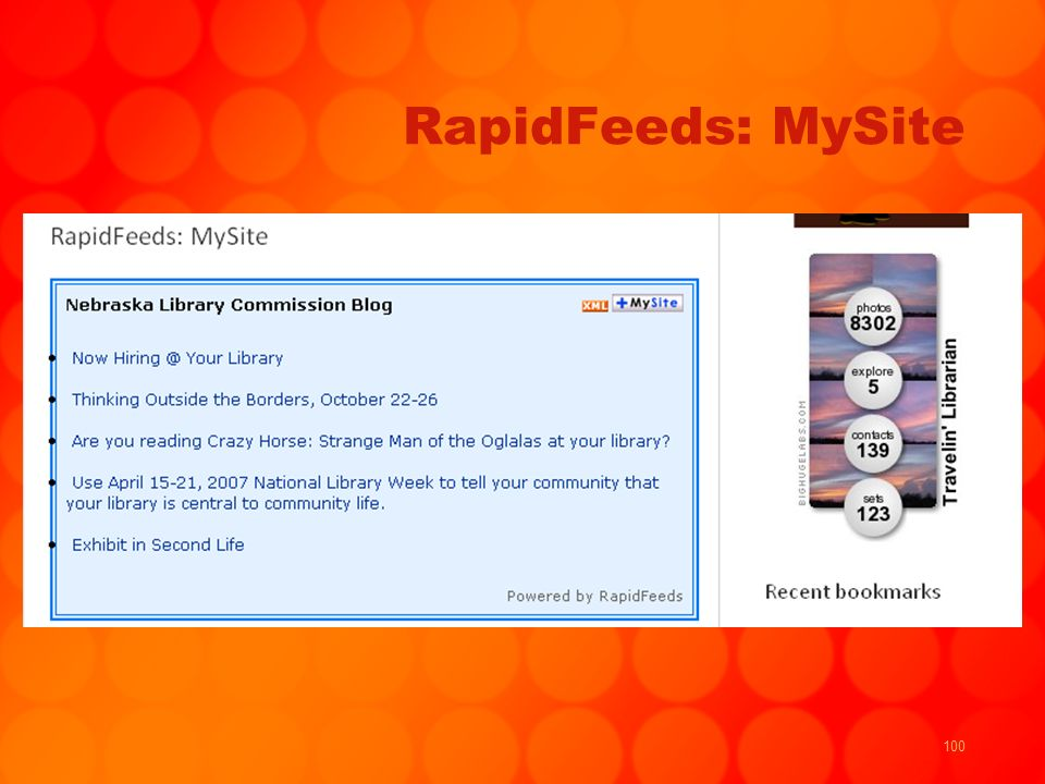 100 RapidFeeds: MySite