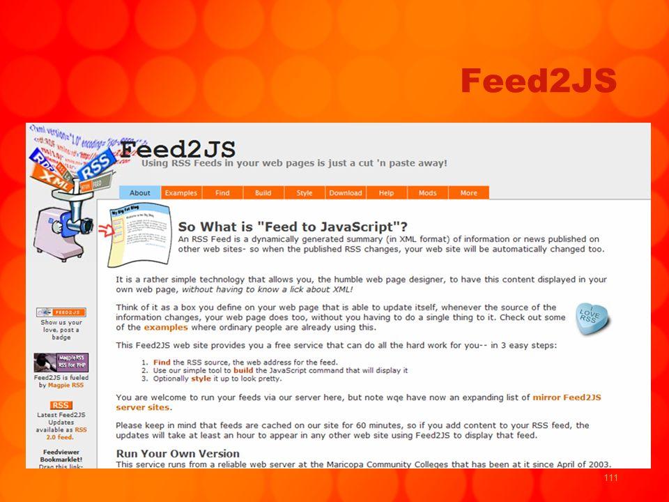 111 Feed2JS