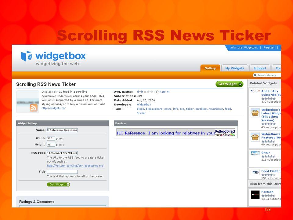 129 Scrolling RSS News Ticker