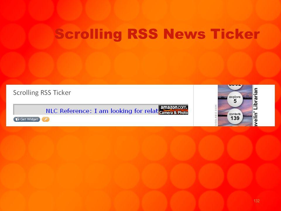 132 Scrolling RSS News Ticker