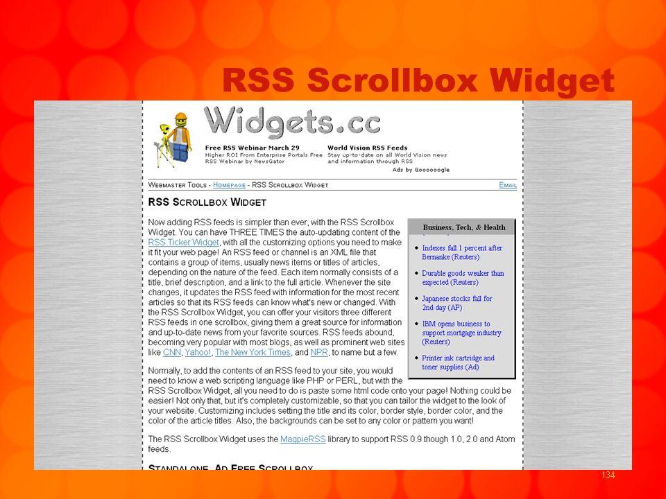 134 RSS Scrollbox Widget