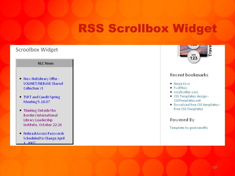 137 RSS Scrollbox Widget