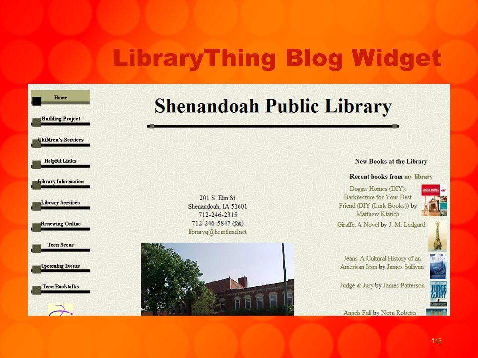 146 LibraryThing Blog Widget