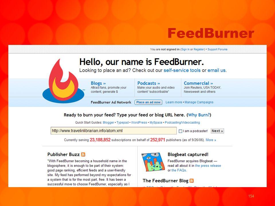 154 FeedBurner