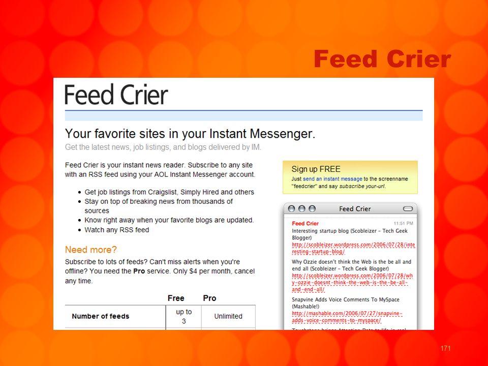 171 Feed Crier