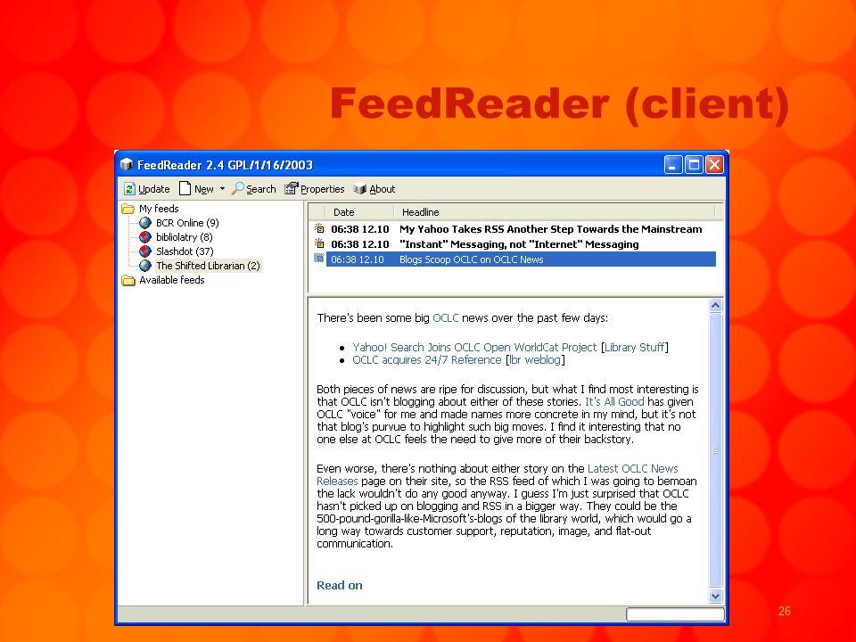 26 FeedReader (client)