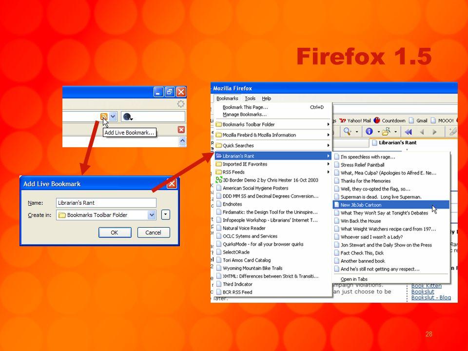 28 Firefox 1.5