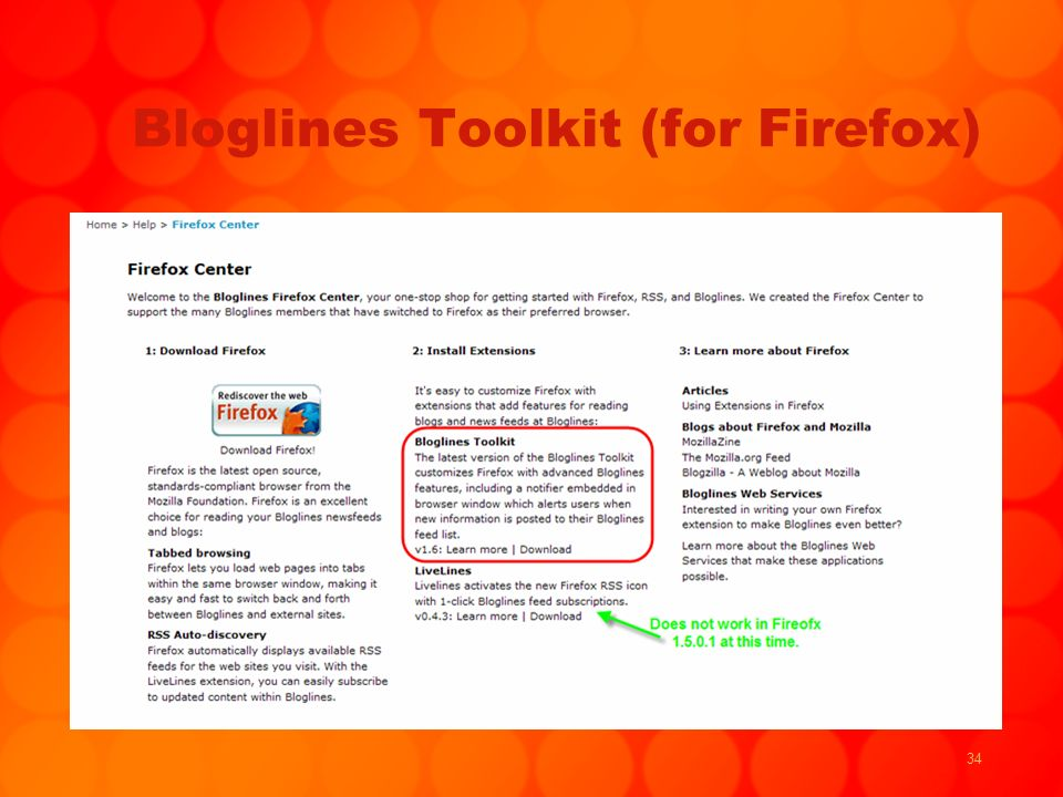 34 Bloglines Toolkit (for Firefox)